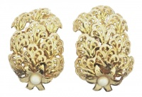 Vintage 1960s Italian Gold Plated Earrings